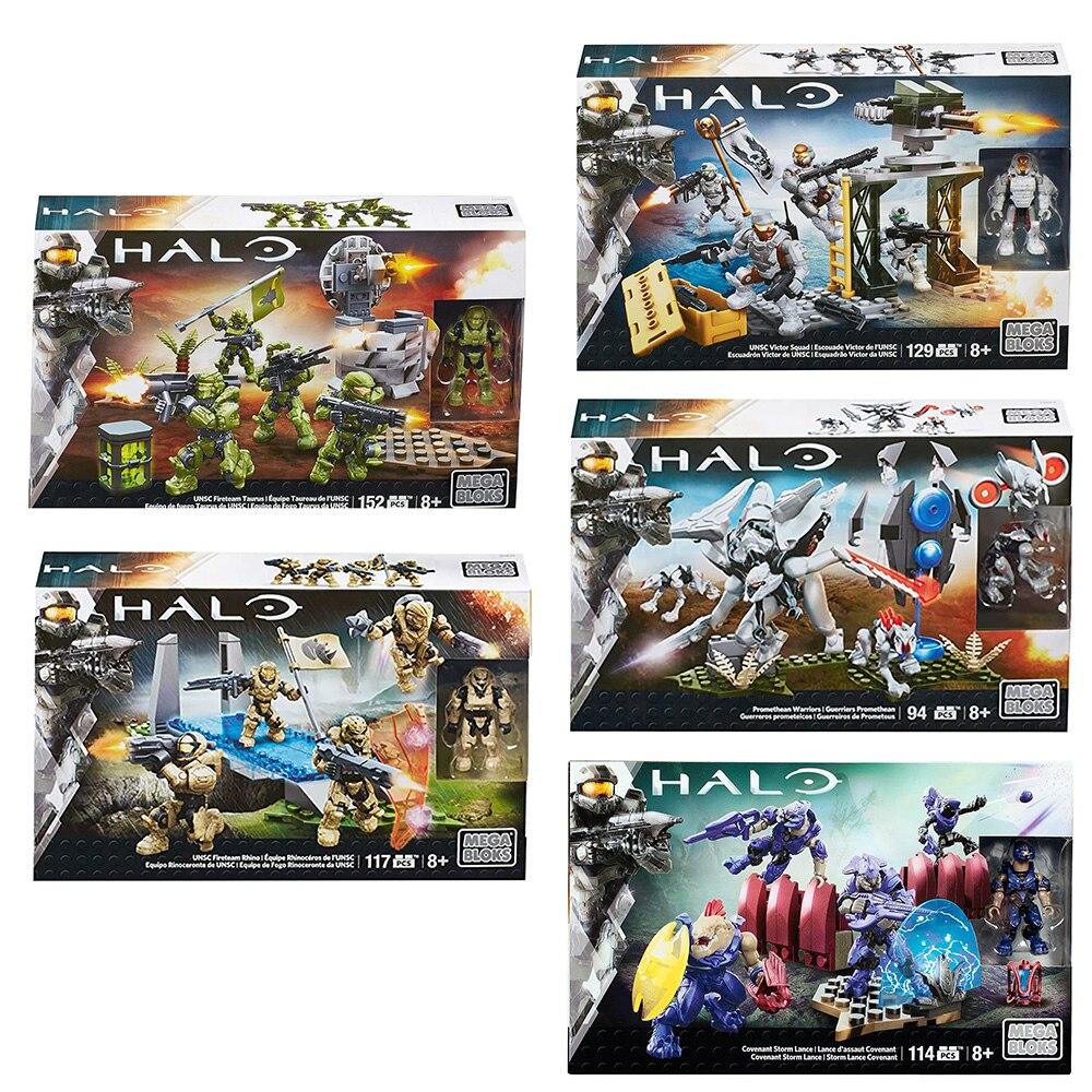 Mega Bloks Halo Promethean Warriors Playset  Fireteam Rhino UNSC Fireteam Taurus Playset Victor Squad Children toy gift